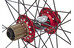 "Spank Spoon32 EVO hjul 26"" forhjul: 20/110 mm, baghjul: 12/150 mm rød"